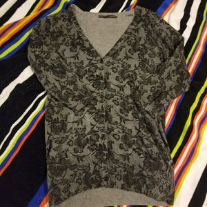 Maurices Floral Print Cardigan